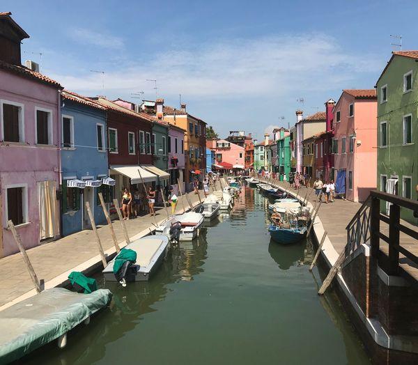 Burano Burano, Venice Building Exterior Water Built Structure Architecture Transportation Nautical Vessel Sky