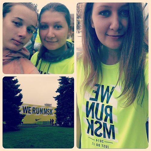 Werunmoscow Nike Moscow мы сделали это! 10 км пролетели незаметно) бегивместеснами