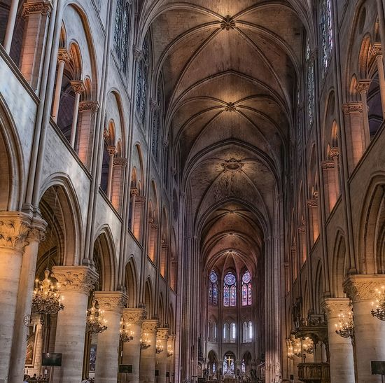 Notre Dame Religion Place Of Worship Architecture Built Structure Belief Spirituality Building Arch Indoors  Ceiling Travel Destinations No People Travel Architecture And Art Gothic Style Architectural Column My Best Photo