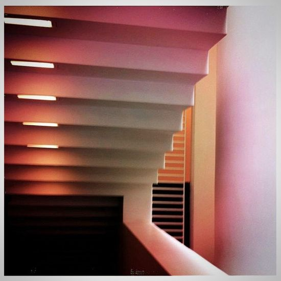 Untitled. An archiabstract derived from the interior main stairwell of SFMOMA. Eye4photography  IPhoneography Enjoying Life EyeEm Best Edits Creative Light And Shadow Minimalism Architecture EyeEm Best Shots Urban Geometry Architectural Detail