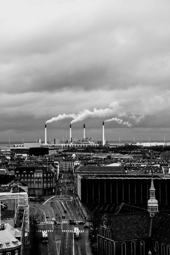 Bleeding Copenhagen. Danish Copenhagen Copenhagen Skyline Chimneys