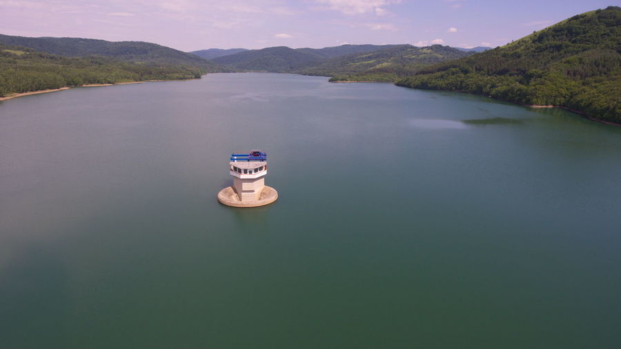 Starina, water reservoir Aerial Aerial Photography Aerial Shot Aerial View Blue Blue And Green Carpathian Mountains Carpathian Nature Clean Water Driking Water Drone  Drone Dji Drone Moments Drone Photography Dronephotography Droneshot Lake Mountain Nature Outdoors Scenics Water Water Reservoir Water Tower Waterfront The Great Outdoors - 2017 EyeEm Awards Live For The Story