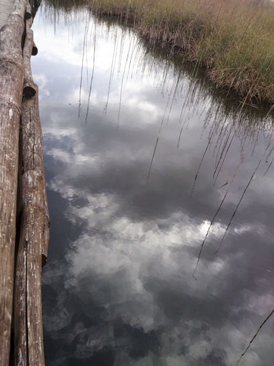 Cloud - Sky Cloudy Day Dramatic Sky Lago Lake Mirror Lake Outdoors Reflected Sky