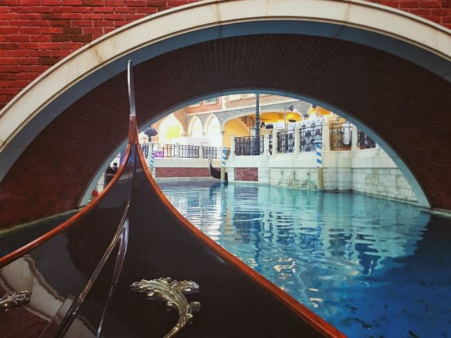 Reflection Canal Architecture Building Exterior Built Structure Gondola - Traditional Boat Outdoors Day Water No People