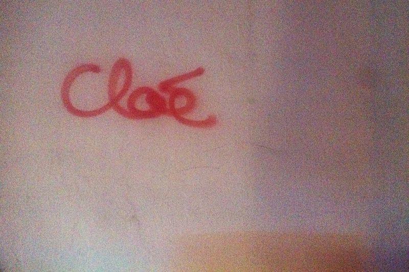 C'est Cloé Names Mural Typography Urban Landscape
