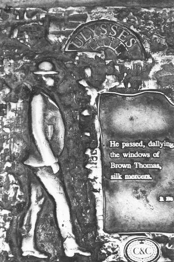 Blackandwhite Eye4photography  Bloomsday Memorial Dublin Ireland Art