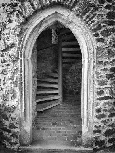 Staircase leading to old building