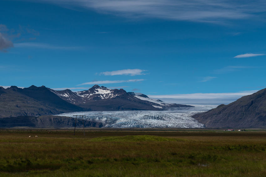 Iceland Beautifuliceland Beauty In Nature Blue Cloud - Sky Cold Temperature Day Environment Glacier Grass Landscape Mountain Mountain Peak Mountain Range Nature No People Non-urban Scene Scenics - Nature Sky Snow Snowcapped Mountain Tranquil Scene Tranquility Winter