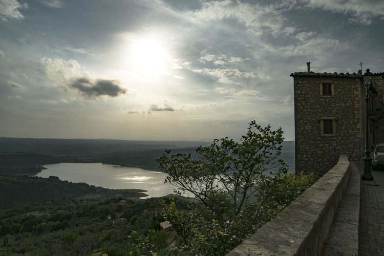 View from Civitella del Lago - Corbara's Lake Beauty In Nature Cloud - Sky Day Landscape Landscape_photography Light And Shadow Medieval Architecture My Favorite Place Nature No People Outdoors Panorama Scenics Sky Sun Tranquil Scene Tranquility Water