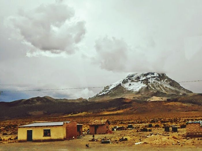 On The Way Landscape Andes Zone House Sky Range Parinacota 4.500 Mts.hi. Walking Sun Weather Panoramic Photography Enjoying Life Cloud Air Rain