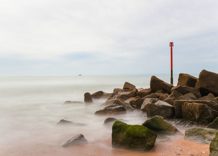 Dorset Westbay Beach Beauty In Nature Cloud - Sky Day Horizon Horizon Over Water Land Longexposure Longexposurephotography Motion Nature No People Outdoors Rock Rock - Object Scenics - Nature Sea Sky Solid Tranquil Scene Tranquility Water