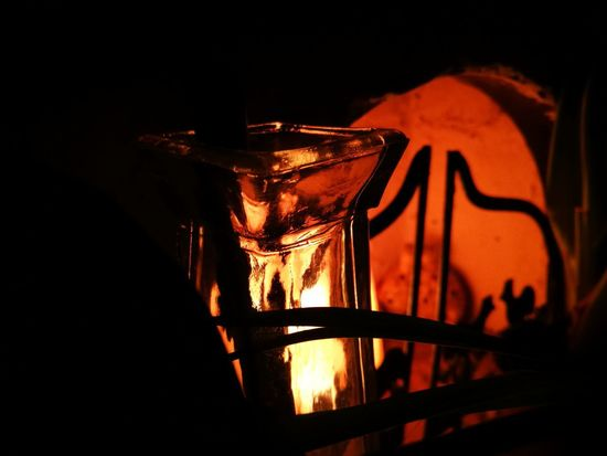 Indoors  Night Close-up Glass Glass - Material Fire Fireplace Artificial Artificial Light Artificial Fire Light Reflections