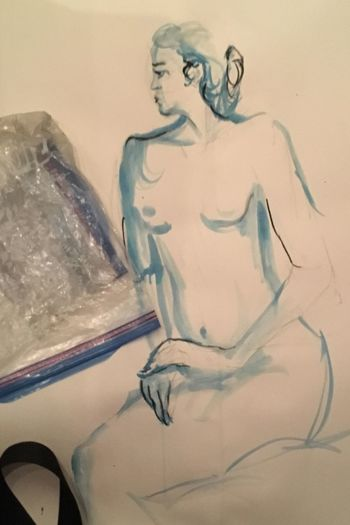 That's Me! Nüde Art. Nude_model Watercolor Painting Figure Painting Life Art Naked_art NakedGirrrl