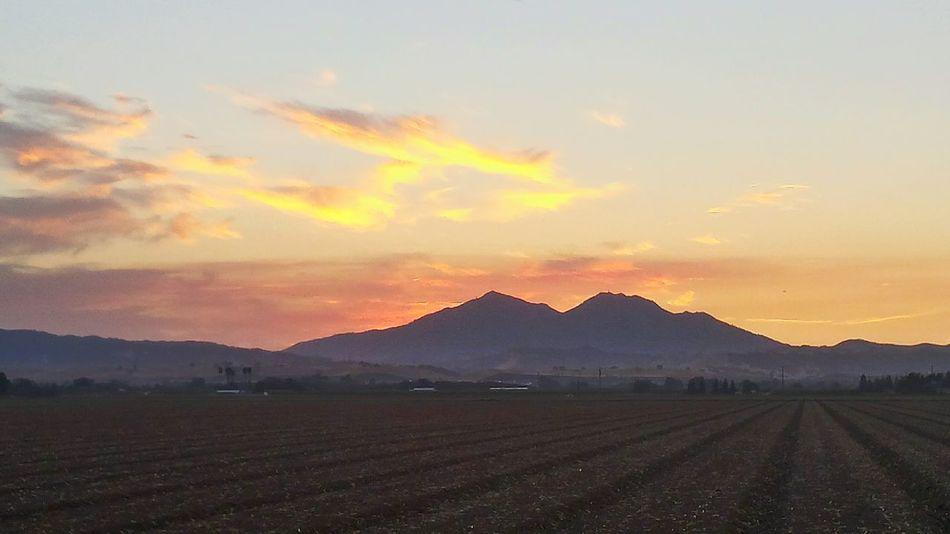 Sunset Mt Diablo