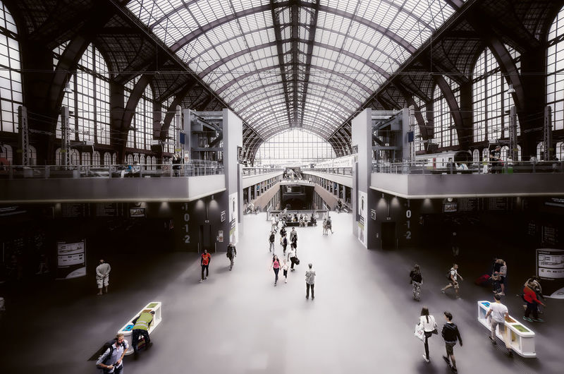 Antwerp Antwerpen Station Train Group Of People Architecture Large Group Of People Crowd Real People Indoors  Shopping Mall Built Structure Lifestyles Men Women Transportation Arch Adult Ceiling Travel Leisure Activity Day Walking Remo SCarfo
