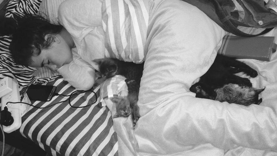 Mis amores durmiendo..
