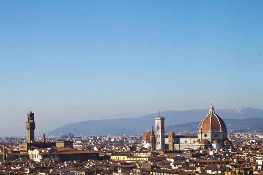 City View  Cityscape Cityscapes Clear Sky Dome Florence Il Duomo Italia Italy Palazzo Vecchio Toscana Tourism Travel Travel Destinations Tuscany