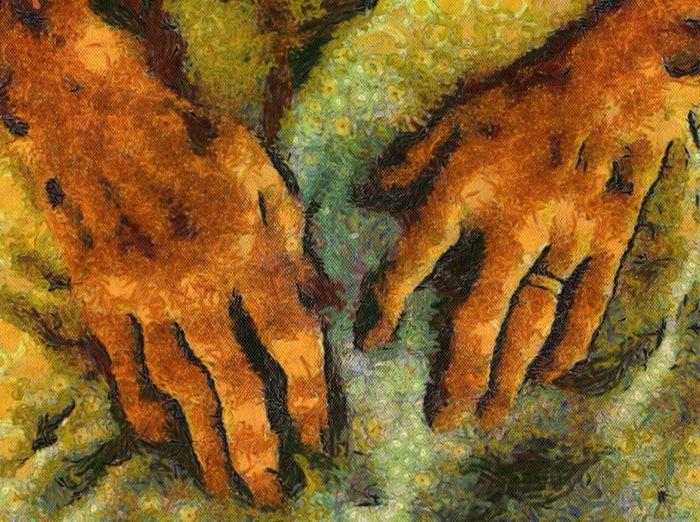 Dad's hands. Dad's Hands.