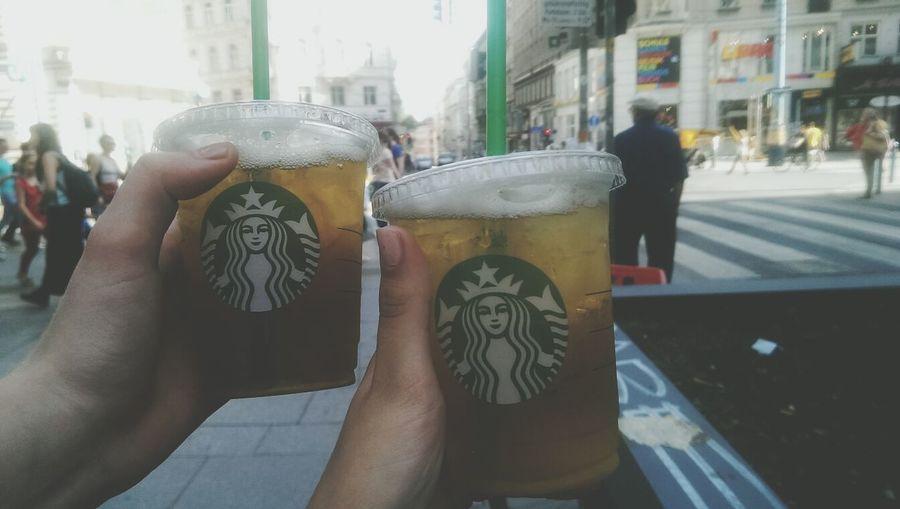 Starbucks Ice Tea Greentea Friends :-*