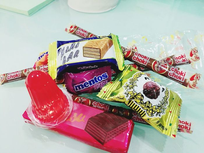 Chocolate♡ NostalgicFood Childhood Memories Red Indoors  No People Large Group Of Objects Close-up Day