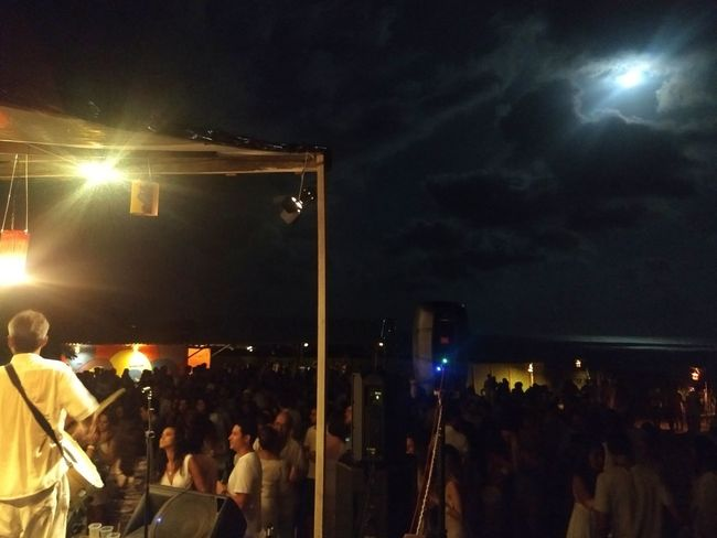 Forró do Serra Mar Jericoacoara Ceará Brasil Fullmoon Moonlight Travel Historical Building Sky Blue @jerihostelbrasil Travel Destinations Treveling Forro Large Group Of People Illuminated Event Celebration Fan - Enthusiast Spectator Performance People
