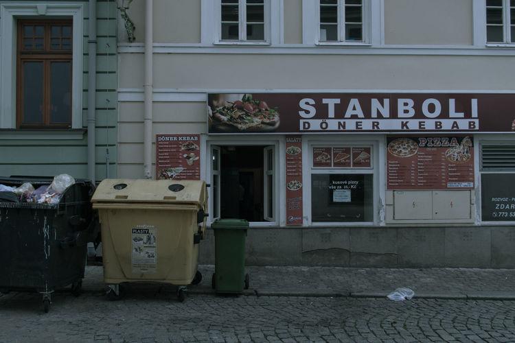 Built Structure Communication Czech Czech Republic Döner Junk Junk Food Kebab No People Outdoors Trash