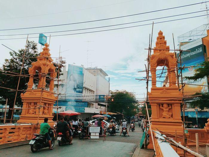 City Statue Sky