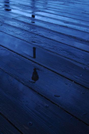 Full frame shot of wet wooden floor