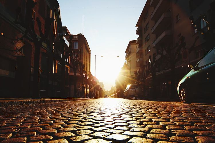 Sun Down Sunset Paved Road Pavedstreets Pavedstreet Streetphotography Against The Sun Against The Light Street Photography Street