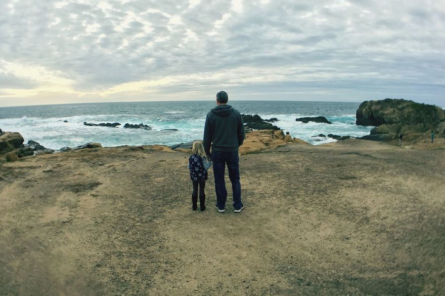 View Father And Daughter Ocean Ocean View Dreaming Point Lobos Carmel-by-the-sea California United States California State Parks The KIOMI Collection Two Is Better Than One Father & Daughter Father Daughter Scenics