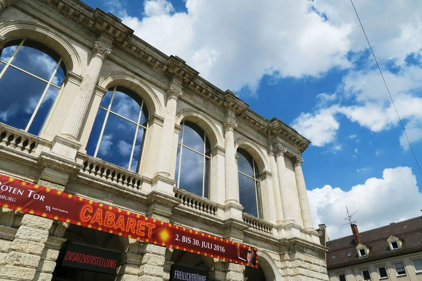 Alt Architecture Augsburg Backgrounds Bavaria Bayern Building Built Structure Cloud Clouds Clouds And Sky Deutschland Fenster Gebäude Hanging Out Historic Low Angle View No People Old Sky Theater Theatre Windows Wolken Working