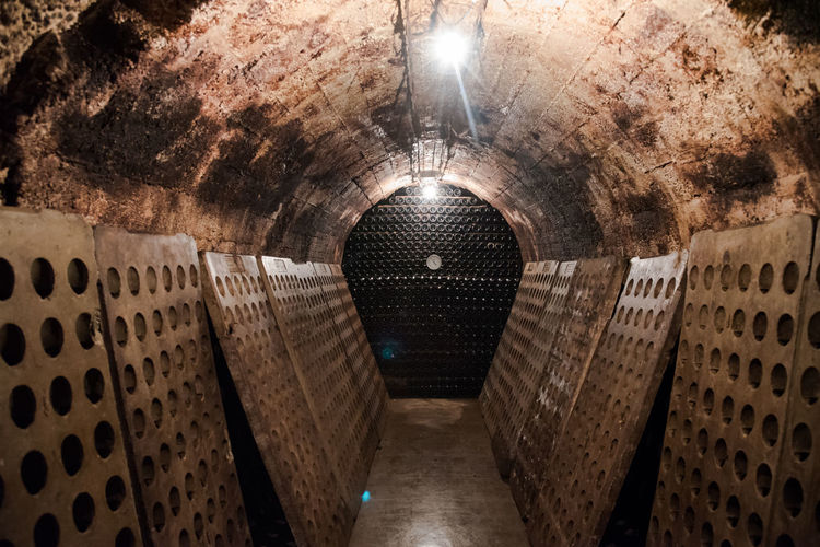 Parxet Travel Vineyards  Wine Tasting Alcohol Architecture Basement Cava Cave Cellar Cellar Room Experience Illuminated Indoors  No People Travel Destinations Travel Experience Vineyard Wine Wine Bottle Wine Cask Wine Cellar Wine Experience Winemaking Winery