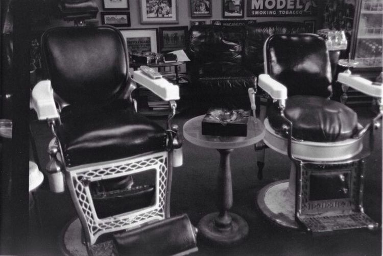 Old 35mm shot I took four years ago. 35mm Film Art Cigar Shop Barber Chair