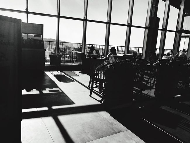 Indoors  Window Architecture Real People Men Built Structure Sunlight Office Day Airport Women City Airport Departure Area Sky Clock People Black & White Blackandwhite Shadow Shadows & Lights Shadows Mobilephotography Bursa