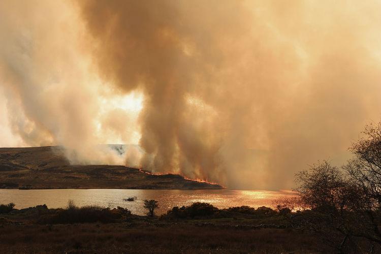 Spiddal gorse fire (2015) Bog Bog Fire Fire Gorse Gorse Fire Ireland Nature Orange Remote Sky Smoke Fresh On Eyeem