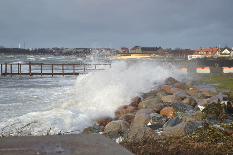 Stormy Weather Breaking Day High Water Level Motion No People Outdoors Power In Nature Sea Sky Water Wave