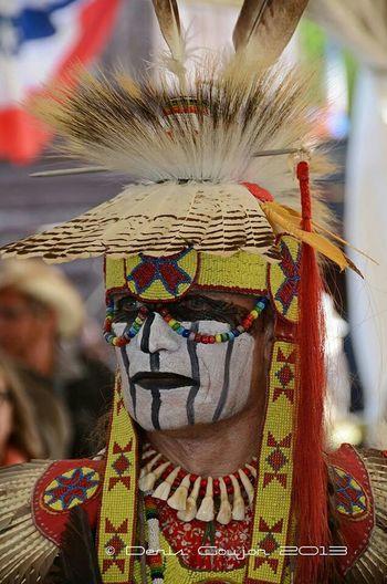 Native American Indian Indien Amerique Portrait Gironde France Photos Around You Cestas Fort Rainbow