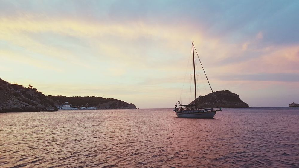 EyeEm Selects Sunset Sea Nautical Vessel Tranquility Outdoors No People Water Landscape Nature Beach Sky Horizon Over Water Day Beauty In Nature