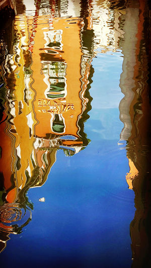 Reflection Water Water Reflection Full Frame Calm Rippled Textured  Detail Pattern Backgrounds Waterfront