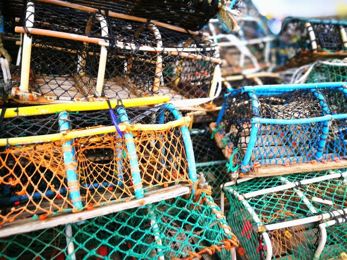 pots for lobsters Lobster Pots Fishing Tackle Fishing Equipment Fishing Net Fishing Fishing Industry Cage Commercial Fishing Net Netting Colorful