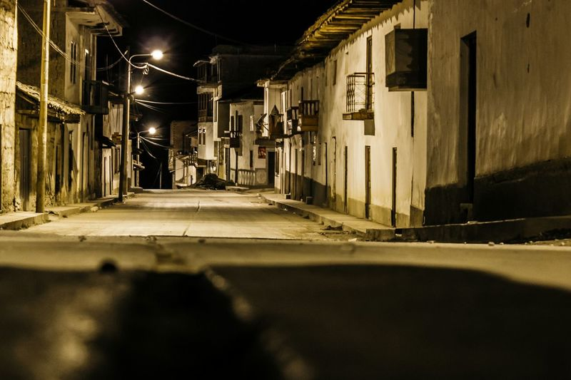 At Night Lights Peru Travel Destinations EyeEm Selects Built Structure Architecture Building Exterior Night No People City Illuminated Outdoors The Way Forward Road