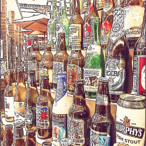 Beer Full Frame Pattern Large Group Of Objects