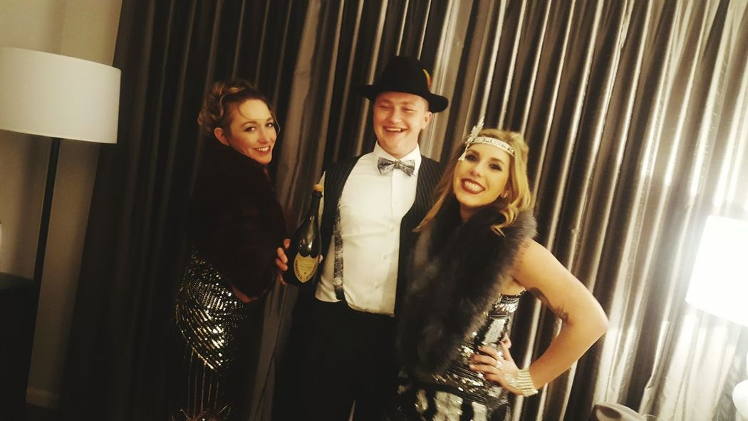 Wine Moments Dom Perignon NYE 20s Style Gatsbytheme Formalwear Portrait People Adult Togetherness Evening Gown Indoors  Young Adult Holiday - Event Men Friendship Night Only Men Period Costume