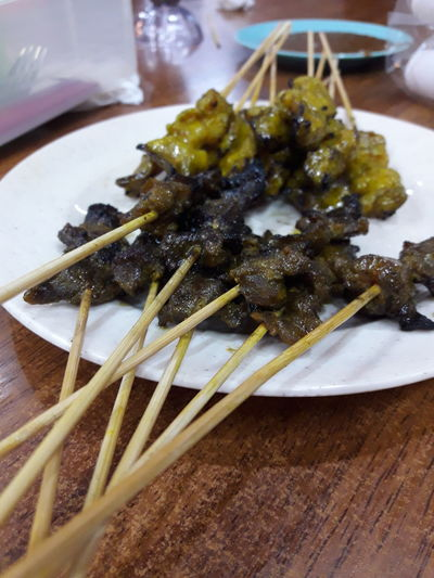 Satay Sataychicken Satay Beef Malay Food Food Indoors  Food And Drink No People Plate Healthy Eating Freshness Ready-to-eat Close-up Day