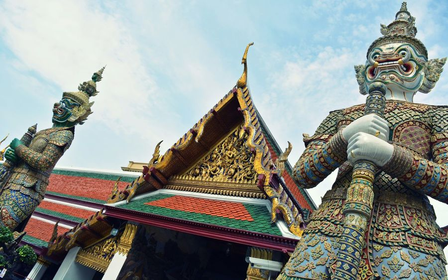 Thai Temple Statues Travel Photography Traveling Buddhist Temple Thailand Thailand_allshots The Grand Palace Thailand