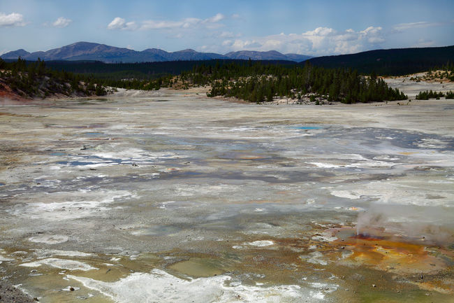 porcelain basin, yellowstone nationalpark, wyoming, usa Geothermal Fields Landscape_Collection Panoramic View Porcelain Basin Tourist Attraction  USA Wyoming Wyoming Adventure Yellowstone Yellowstone National Park Adventure Geothermal  Geothermal Activity Geyser Landscape Landscape_photography Nature_collection Sky View View From Above Volcanic Activity Volcanic Landscape Volcano