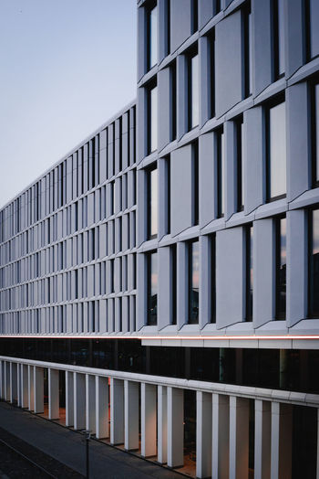 Architecture Built Structure Building Exterior Building Glass - Material No People Day City Office Office Building Exterior Modern Sky Window Pattern Nature Reflection Outdoors Clear Sky Low Angle View Railing