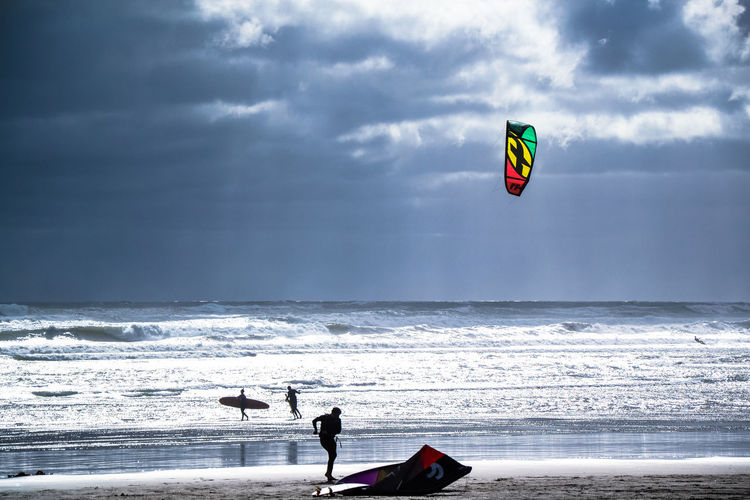 Kitsurfing Adventure Aquatic Sport Beach Beauty In Nature Cloud - Sky Horizon Horizon Over Water Kiteboarding Kitsurf Land Leisure Activity Men Nature One Person Outdoors People Real People Sea Sky Sport Water Watersports Wave