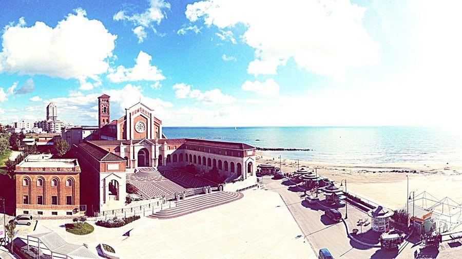 Nettuno Santa Maria Goretti Church Sea And Sky Porto Mare