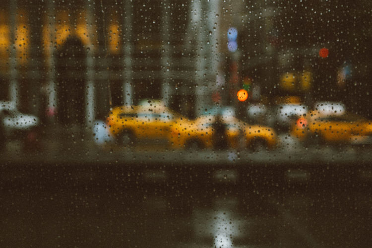 rain in newyork Monsoon New York New York City Reflection Backgrounds Blur Bokeh Car City Close-up Cold Temperature Nature Night No People Outdoors RainDrop Snow Transportation Water Weather Wet Yellow Color